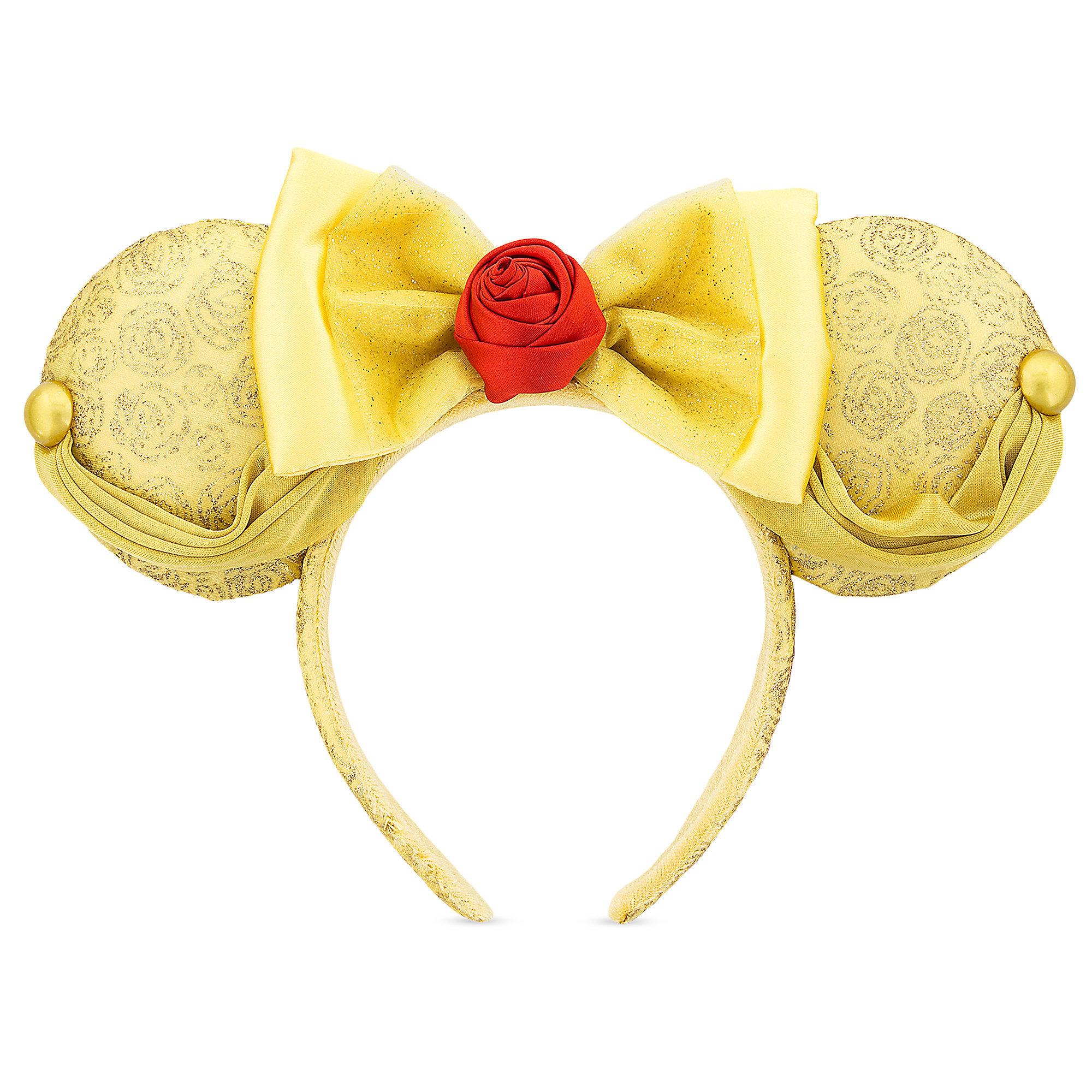 Princess Minnie Ears Beauty and the Beast Ears Minnie Ears Belle Mouse Ears LED Mickey Ears Flower Minnie Ears Mickey Ears
