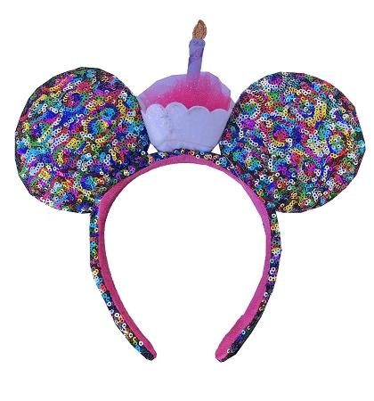 disney mickey ears birthday cupcake sequined ears 01