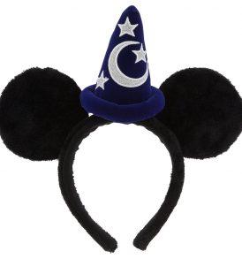 disney mickey ears black fuzzy sorcerer hat ears 01
