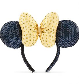 disney mickey ears blie with yellow bow sequined ears 01