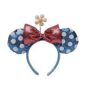 disney mickey ears blue white polka dot daisy ears 01