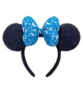 disney mickey ears blue with stars bow sequined ears 01