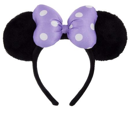 disney mickey ears fuzzy purple bow ears 01