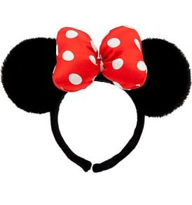disney mickey ears fuzzy red polka dot ears 01