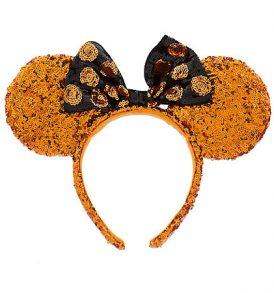 disney mickey ears halloween pumpkin sequined ears 01