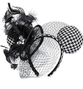 disney mickey ears houndstooth with lace ears 01