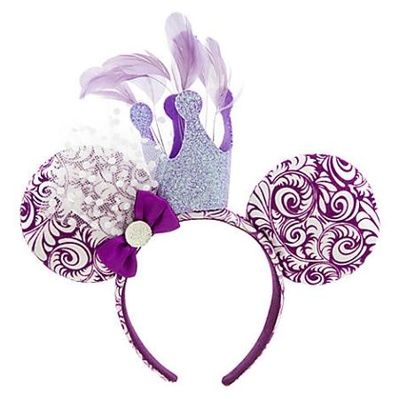 disney mickey ears purple crown feather ears 01