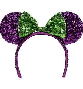 disney mickey ears purple green sequined ears 01