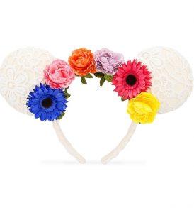 disney mickey ears white lace flower ears 01