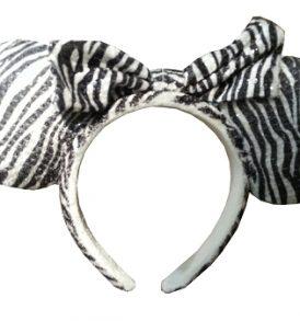 disney mickey ears zeebra bow animal print ears 01